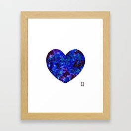 Space Heart Framed Art Print