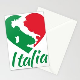 Italia Heart - I Love Italy Stationery Cards