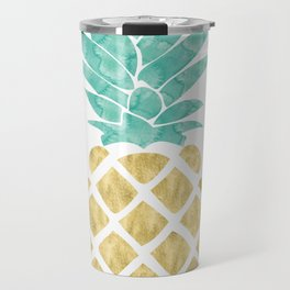 Gold Pineapple Travel Mug