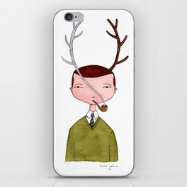 One real antler, one imagined iPhone Skin