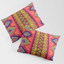 Colorful Guatemalan Alfombra Pillow Sham