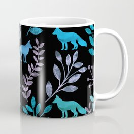 Watercolor Floral & Fox IV Coffee Mug