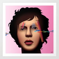 cassia beck Art Prints featuring Beck (Sea Change) by AdamSteve