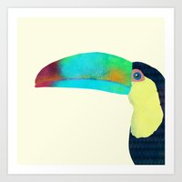 toucan Art Prints featuring Toucan by Eric Fan