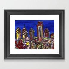 Philly Skyline LOVE Framed Art Print