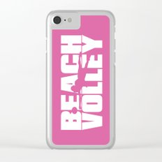 Beach volley Clear iPhone Case