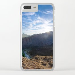 Smith Rock National Park and the river bend, Oregon Clear iPhone Case