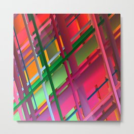 Striping Confusion Metal Print