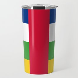 National flag of the Central African Republic or CRA - Authentic version to scale and color Travel Mug