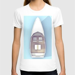 Low Poly Speed Boat T-shirt
