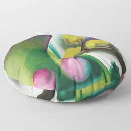 The Colors and Sights of Spring Portrait Painting by Georgia O'Keeffe Floor Pillow