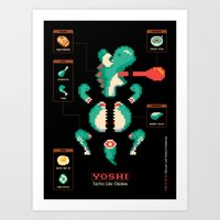 Yoshi: Tastes Like Chicken Art Print