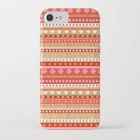 nordic iPhone & iPod Cases featuring Nordic Stripe by Faye Maguire Designs