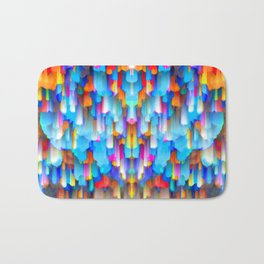 Colorful digital art splashing G397 Bath Mat
