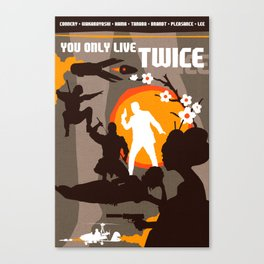 James Bond Golden Era Series :: You Only Live Twice Canvas Print