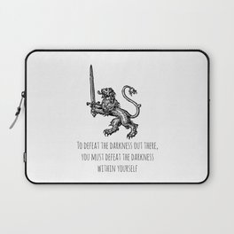TO DEFEAT THE DARKNESS Laptop Sleeve