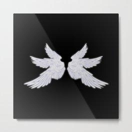 White Archangel Wings Metal Print