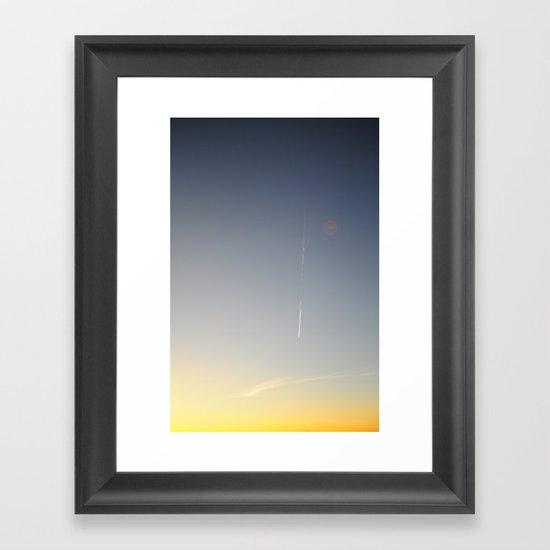 Vapour Trail Framed Art Print
