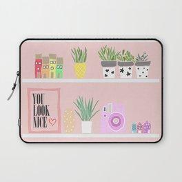 Cactus shelfie pink Laptop Sleeve