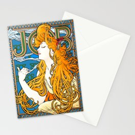 "Alphonse Mucha ""Job"" Stationery Cards"