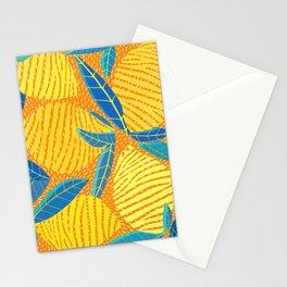Striped Lemons - Whimsical Fruit Design Stationery Cards