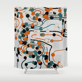 dots/lines5 Shower Curtain