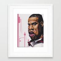 jay z Framed Art Prints featuring Jay Z by Smiling Warrior