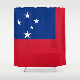 Samoan flag - Authentic version to scale and color Shower Curtain