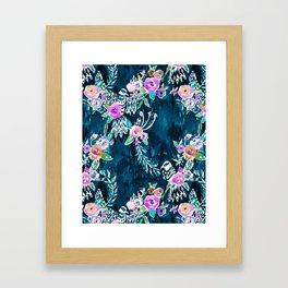 BIRD OF HEY - INDIGO Framed Art Print