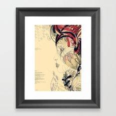 flame flower Framed Art Print