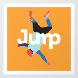 Jump 6 (fall) Art Print