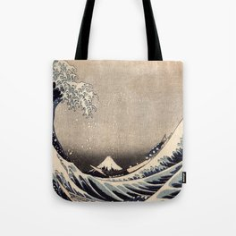 Hokusai the wave 1-hokusai,manga,fugi,japan,kanagawa,wave,edo,mount fuji Tote Bag