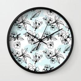 Cherry Flowers II Wall Clock