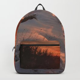 Sunrays. Snow Mountains. At Sunset. Sierra Nevada Backpack