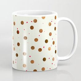Copper Polka Dots With Red Hint Pattern Coffee Mug