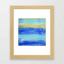 Relaxing Beach Aqua Turquiose Nautical Abstract Art Framed Art Print