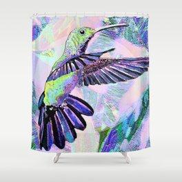 Jeweled Hummingbird in Flight Shower Curtain
