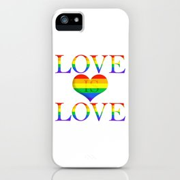 Love is Love Minimalist Pride Art With Heart iPhone Case