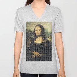 Mona Lisa - Leonardo Da Vinci. Unisex V-Neck