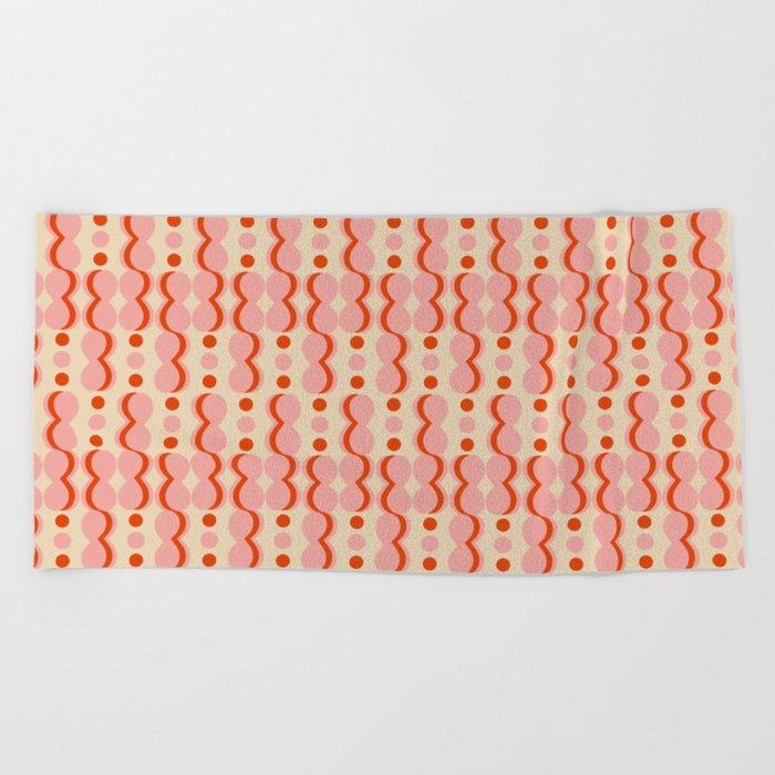 Uende Love - Geometric and bold retro shapes Beach Towel