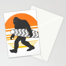 Bigfoot Surfing, Hide Seek and Go Surf  Stationery Cards