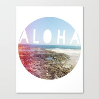 aloha Canvas Prints featuring Aloha by Sunkissed Laughter