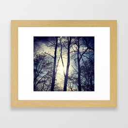Your light will shine in the darkness Framed Art Print