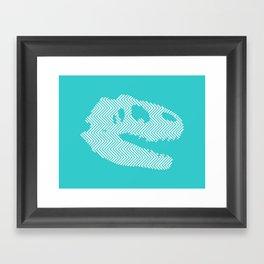 Tyrannosaurus Rex Skull Framed Art Print