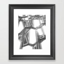 GREY GLOW Framed Art Print