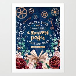 Life is a book Art Print