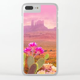 Road landscape Clear iPhone Case