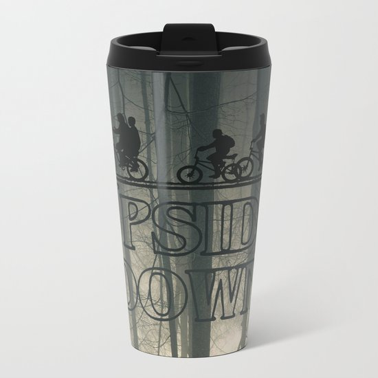 Upside down world Metal Travel Mug