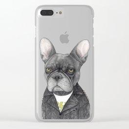 Hard Rock French Bulldog Clear iPhone Case