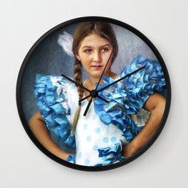 Polkadot Princess Wall Clock